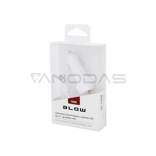 Automobilinis įkroviklis 5V 2.1A USB C-tipo