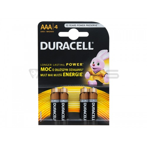 Battery 1.5V AAA DURACELL (4pcs.)