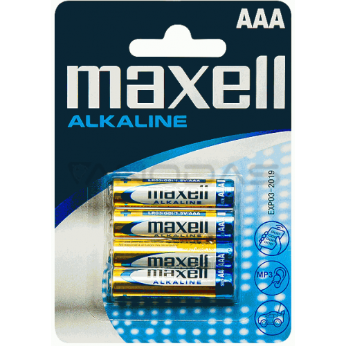 Battery AAA 1.5V LCR03 MAXELL (4 pcs.)