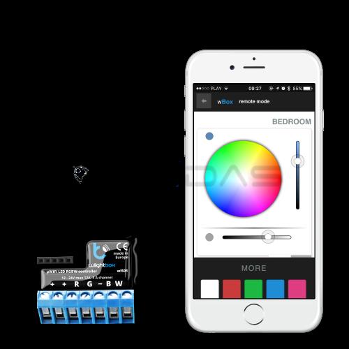 Blebox wLightBox - LED juostų WiFi valdiklis