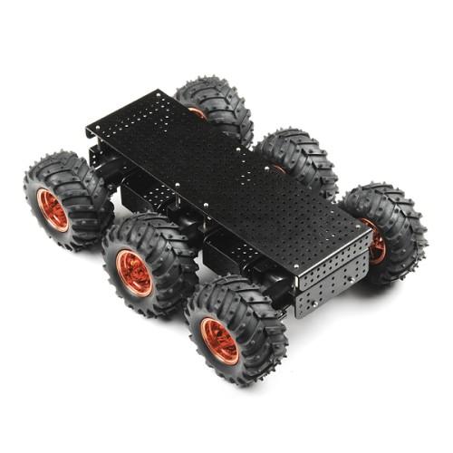 Dagu Wild Thumper 6WD Chassis Black - 6 ratų roboto važiuoklė su varikliais