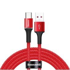 Baseus Halo Data HW flash įkrovimo kabelis USB Type-C 40W 2m - Raudonas