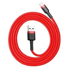 Baseus Cafule USB Lightning kabelis 2.4A 1m - Juoda / Raudona