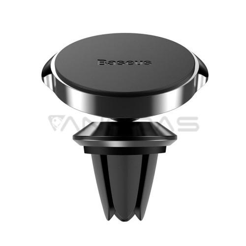 Automobilinis Baseus Small Ears magnetinis telefono laikiklis į groteles - Juodas