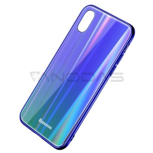 Baseus Luster dėklas iPhone X / XS - Mėlynas / Žalias