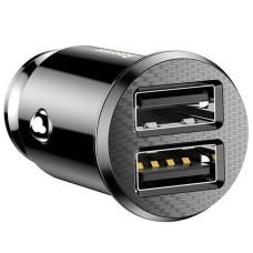 Baseus Grain Car Charger 2x USB 5V 3.1A - Black
