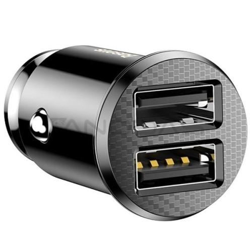 Baseus automobilinis įkroviklis 2x USB 5V 3.1A - Juodas