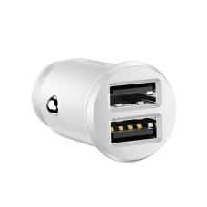 Baseus Grain Car Charger 2x USB 5V 3.1A - White