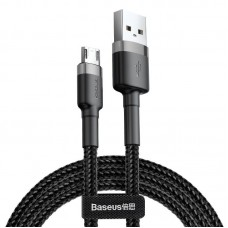 Baseus Cafule Micro USB cable 2.4A 0.5m - Grey / Black