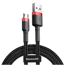 Baseus Cafule micro USB laidas 2.4A 1m - Raudonas / Juodas