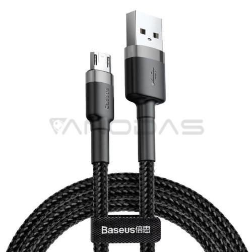 Baseus Cafule Micro USB kabelis 1.5A 2m - Pilkas / Juodas