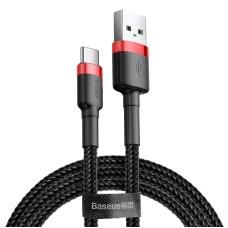 Baseus Cafule kabelis USB-C 3A 0.5m - Juodas / Raudonas