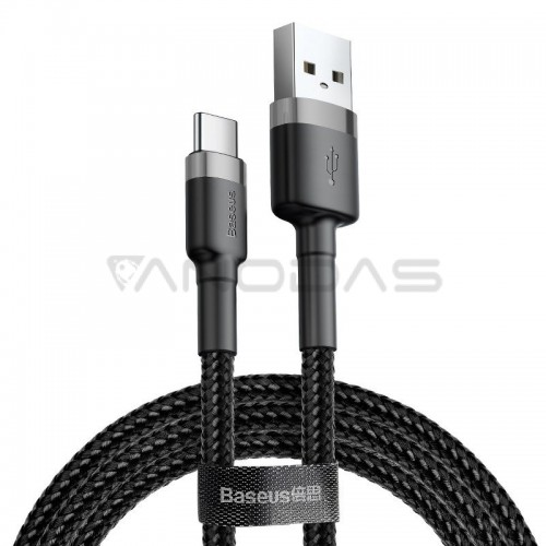 Baseus Cafule kabelis USB-C 3A 0.5m - Pilkas / Juodas