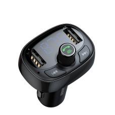 Baseus FM moduliatorius Bluetooth USB microSD - Juodas