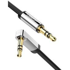 UGREEN mini lizdas 3.5mm AUX plokščias kabelis 1m