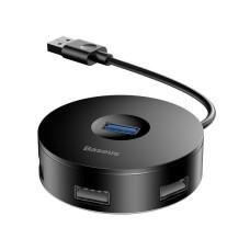 Baseus Hub 4in1 USB į USB 3.0 + 3x USB 2.0 15cm - Juodas