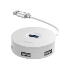 Baseus Hub 4in1 USB į USB 3.0 + 3x USB 2.0 15cm - Baltas