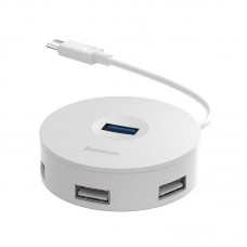 Baseus Hub USB-C 4in1 15cm - Baltas