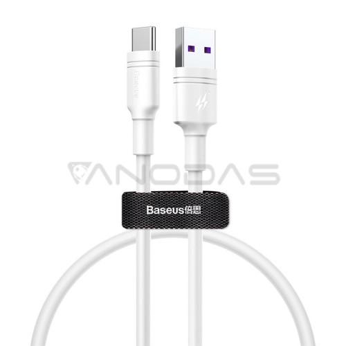 Baseus kabelis USB-C skirtas Huawei SuperCharge 5A 2m - Baltas