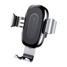 Baseus Qi Wireless Charger Gravity Car Mount - Silver