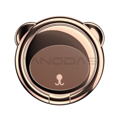 Baseus telefono laikiklis / žiedas lokio formos - Rudas