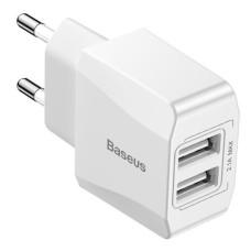 Baseus Mini Base įkroviklis 2x USB - Baltas