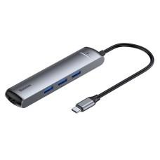Adapteris HUB 6w1 Baseus USB-C - 3x USB 3.0 + HDMI + RJ45 + USB-C PD