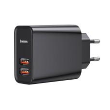 Baseus Quick Wall Charger 2x USB QC 3.0 30W - Black