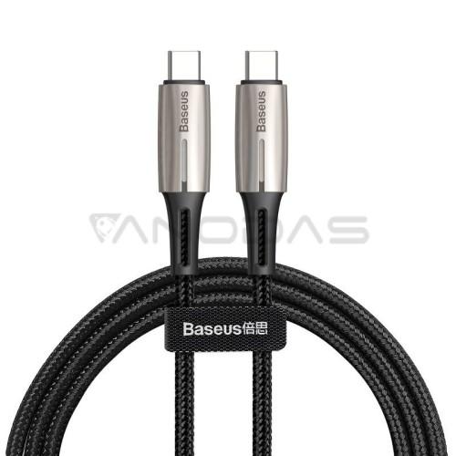 Baseus USB-C PD Water Drop Power Delivery kabelis 2.0 60W 1m - Juodas