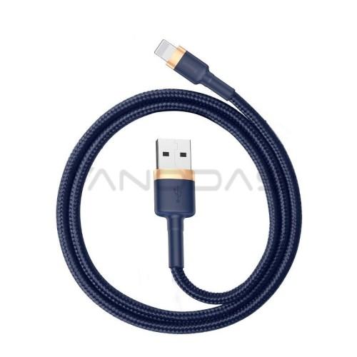 Baseus Cafule Lightning kabelis 1.5A 2m - Auksinis / Tamsiai mėlynas