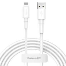 Baseus USB Lightning kabelis 2.4A 1m - Baltas