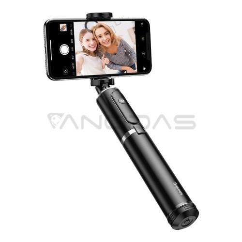Baseus sulankstoma selfie lazda / trikojis - Juoda / Sidabrinė