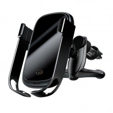 Baseus Rock-solid Car Holder with Qi inductive charger - Black