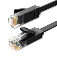 UGREEN Ethernet plokščias kabelis RJ45 Cat.6 UTP 0.5m - Juodas