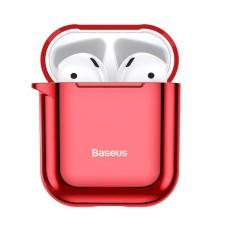 Baseus Shining Hook dėklas Apple AirPods - Raudonas
