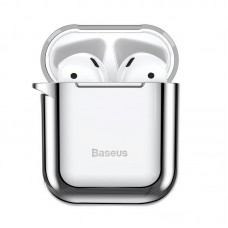 Baseus Shining Hook Case For AirPods 1/2nd Generation - Silver
