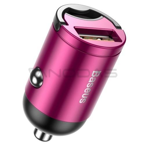 Baseus Tiny Star Mini greito įkrovimo automobilinis įkroviklis USB 30W - Rožinis