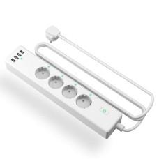 Išmanusis WiFi prailgintuvas su apsauga nuo viršįtampių Meross MSS425F