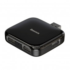 Baseus Fully folded portable 4-in-1 USB HUB (USB A to USB2.0*4 with power supply) - Black