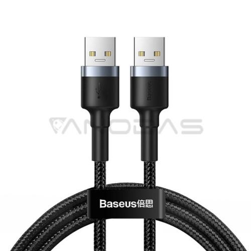 Baseus cafule kabelis USB3.0 Male T USB3.0 Male 2A 1m Black + grey