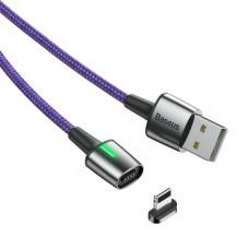 Magnetinis Baseus Zinc Lightning kabelis 1.5A 2m - Violetinis