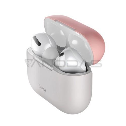 Baseus silikoninis dėklas AirPods Pro - Rožinis / Pilkas