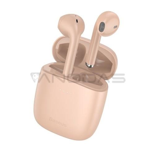 Baseus True Encok belaidės ausinės W04 Pro - Rožinės