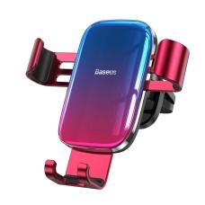 Baseus Glaze Gravity automobilinis telefono laikiklis į groteles - Raudonas