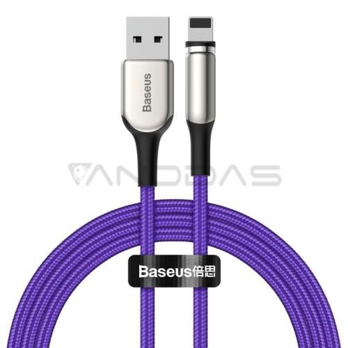 Magnetinis Baseus kabelis Lightning USB 1.5A 2m - Violetinis