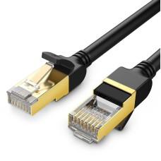 UGREEN Ethernet RJ45 tinklo kabelis Cat.7 STP 0.5m - Juodas
