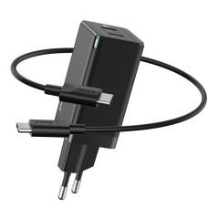 Baseus quick charger GaN2 C+C, 45W, EU - Black