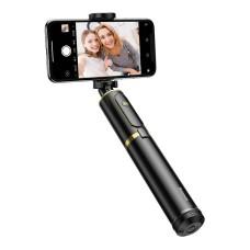 Baseus sulankstoma selfie lazda / trikojis - Juoda / Auksinė