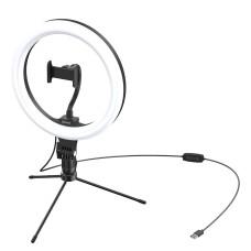 Baseus Live Stream stovas su 25.4 cm led šviesos žiedu - Juodas