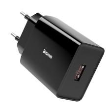 Baseus Quick Charger PD + QC 3.0 18W - Black